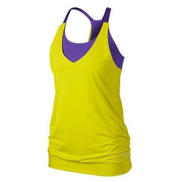 3776facefe OAKLEY Energy Tank Bra Workout Bright Lime Purple